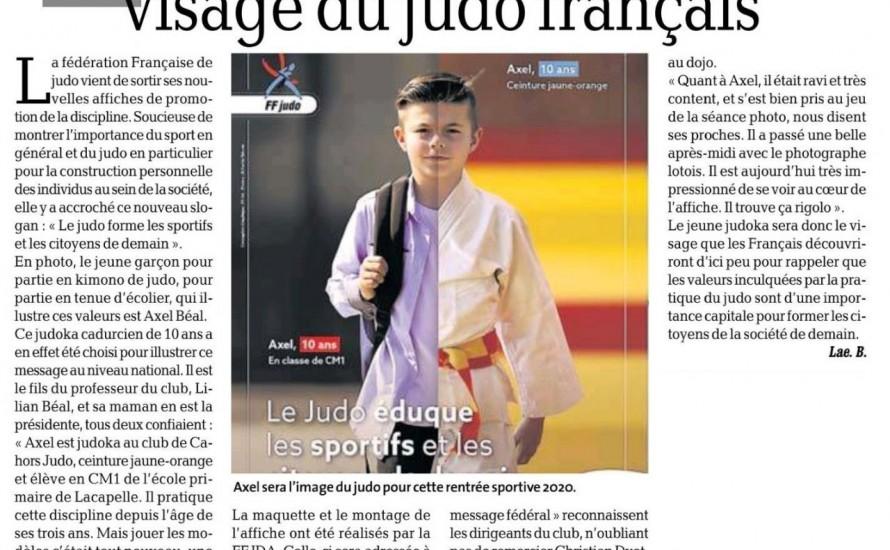 Un petit judoka, visage du judo Français